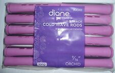 "Diane 9/16"" Cold Wave Rods Curlers Hair Perm #DCW3 12-pieces - Orchid Long"