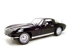 1965 CHEVROLET CORVETTE BLACK 1:18 SCALE DIECAST MODEL CAR BY MAISTO  31640