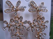 NEW - European and American style fashion exaggerated snowflake earrings