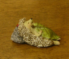 Top Land  Enchanted Story Fairy Garden #4408 HEDGEHOG SLEEPING w/ LEAF BLANKET