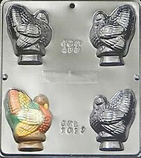 "3"" Turkey Assembly Chocolate Candy Mold Thanksgiving 1013 NEW"