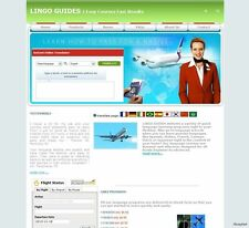 Cheap Hotel Search and Language Learning Affiliate Business website for sale