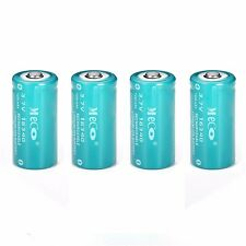 4x 1200mAh 3.6V 3.7V CR123A 16340 Rechargeable Battery FOR Flashlight Torch