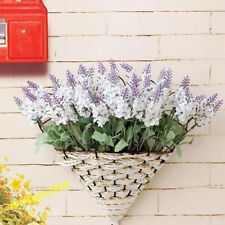 Artificial Lavender 10 Heads Blooming Silk Flowers Bunch Party Decor White