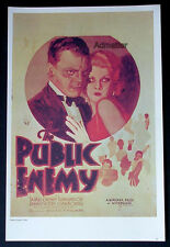 THE PUBLIC ENEMY JEAN HARLOW + LAUREL & HARDY! MOVE AD POSTER 40+ YEARS OLD!