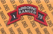 US Army I AIRBORNE RANGER 75 Vietnam LRRP LRP 1st Inf Div scroll patch