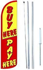Buy Here Pay Here Windless  Swooper Flag With Complete Hybrid Pole set