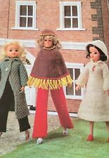 Dolls Clothes A  Winter Day, ( Fashion dolls size Barbie etc)  Knitting Pattern