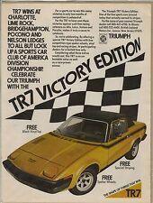 Original 1977 Triumph TR-7 Magazine Ad -TR7 Victory Edition