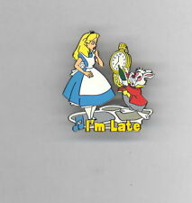 Disney Magical Musical Moments I'm Late Alice in Wonderland & White Rabbit Pin