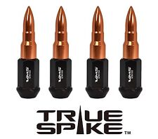 "20PC VMS RACING 89MM 9/16"" STEEL LUG NUTS W/ ROSE GOLD EXTENDED BULLET SPIKES"