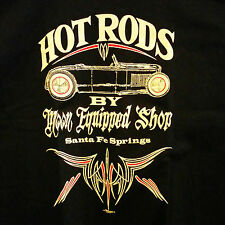 MEDIUM MOON HOT ROD EQUIPPED ROADSTER T SHIRT 1932 FORD RAT CUSTOM SCTA FLATHEAD