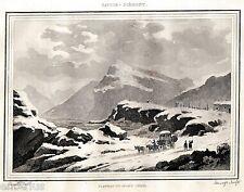 Colle del Moncenisio.Mont Cenis.Alpi Cozie.Savoia.Regno di Sardegna.Acciaio.1838