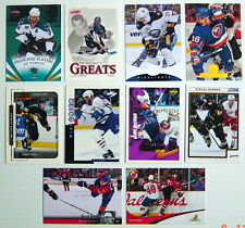 1994-2013'S LOT OF 10 HOCKEY CARDS (one card whit printing defectuosity)