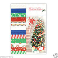Docrafts Papermania A5 paper 24 sheet pack 160gsm Classic Christmas Tidings