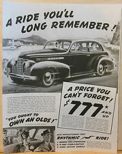 "Vintage 1940's ad for Oldsmobile autos - graphic of Olds ""60"" 2-Door Sedan"