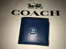 COACH x PACMAN Limited Edition Men's PACMAN Ghost Folding Wallet (New)