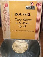 "ROUSSEL String Quartet In D LOEWENGUTH EX+ 10"" DECCA GOLD 4026 MICROGROOVE LP"