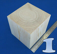 "LOTTO X 1 CUBO 5.7 "" / 145 mm in legno blocchi Bundle Set Legno Di Pino Naturale Eco mattoni"