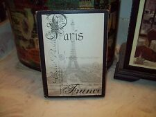 Paris France sign block wall decor shabby French chic vintage look