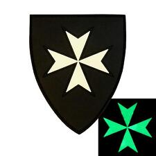 knights hospitaller cross rubber PVC glow dark morale crusaders infidel patch