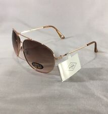 New Fossil Sunglasses Women's  Metal Wire Frame Rose Gold Toned
