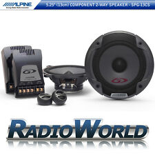 "Alpine spg-13cs 5.25"" 13cm 2-way Set Sistema di altoparlanti componente CAR AUDIO 500w"