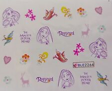 Nail Art Rapunzel Magic Flower Birds LovE Girl Nail Art Water Decal Sticker 2264