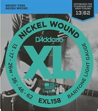 D'Addario EXL158 Nickel Wound Electric Guitar Strings Baritone Light, 13-62