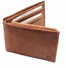 Men's Cowhide Wallet Handmade Leather Purse Minimalist Credit Card Holder