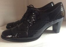 Women's Brogue Leather Lace Up Shoes By GABOR size 7.5 UK EUR LOVELY Light Wear!