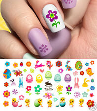 Easter Spring Flowers Assortment #2 Nail Art Waterslide Decals -Salon Quality!