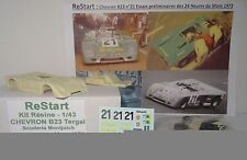 CHEVRON B23 Escuderia Montjuich TERGAL N°21 Essais LE MANS 73 kit ReStart 1/43