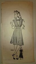 Vintage 1940's Sewing Pattern WWII 9453 Junior Miss Pinafore Blouse WWII WW2