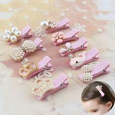 1Pc Chic Girls Princess Crystal Pearl Crown Hair Clip Hairpins Hair Accessories