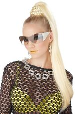 Blonde Dominatrix Ponytail Hairpiece Braided Bun Cover Model Popstar Diva CoCo
