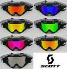 GOGGLE-SHOP MOTOCROSS MX GOGGLE CHROME MIRROR LENS to fit SCOTT 80'S 89 RECOIL