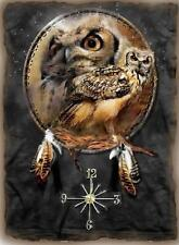 Owl Dream Catcher Wall Clock  Makes Great Gifts