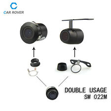 Dual Use170° Mini Color CCD Reverse Backup Car Rear View Camera Night Vision 12V