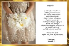 A4 PERSONALISED WILL YOU BE MY FLOWER GIRL POEM CARD IDEAL FOR FRAMING