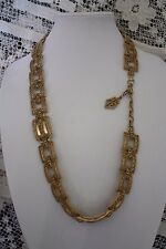 VINTAGE TRIFARI TEXTURED Gold Articualted NECKLACE / BELT-AMAZING! 1960s MOD