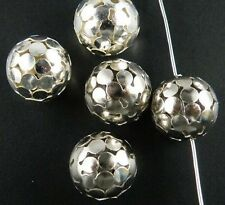 120pcs Tibetan Silver/Gold Color Nice Ball Spacer Beads 14mm