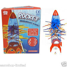 KIDS TUMBLING ROCKET SPACESHIP BOARD PULL OUT STICKS FUN GAME TOY XMAS GIFT NEW
