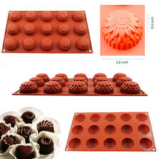 15-Cavity Silicone Cake Decorating Mould Candy Cookie Chocolate Soap Baking Mold