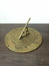 Antigue  vintage sun clock 18th - Brass Hand Engraved Clock VERY GOOD CONDITION