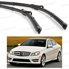 2Pcs Car Front Windshield Wiper Blade Bracketless for Benz C-Class 2012-2014 13
