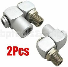 "(2) Industrial Aluminum Air Swivel Fitting Connectors Hose Tool Coupler 1/4"" NPT"