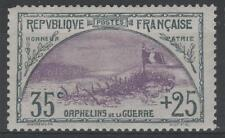 """FRANCE STAMP TIMBRE N° 152 """" ORPHELINS 35c+25c TRANCHEE DRAPEAU """" NEUFxxTTB N065"""