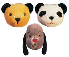 The Sooty Show Set of 3 2D Official CARD Party Face Mask Pack Sooty Sue Sweep