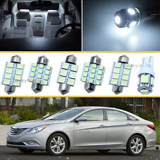 8PCS Bulbs White LED Car Interior Lights Package kit Fit 2014-2015 Kia Forte J1
